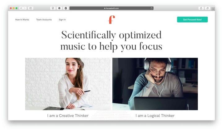 Приложение Focus @ Will Time Management