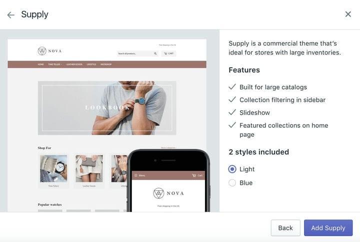 Shopify Тема для телефона Business