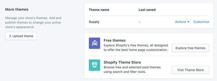 Как установить тему Shopify