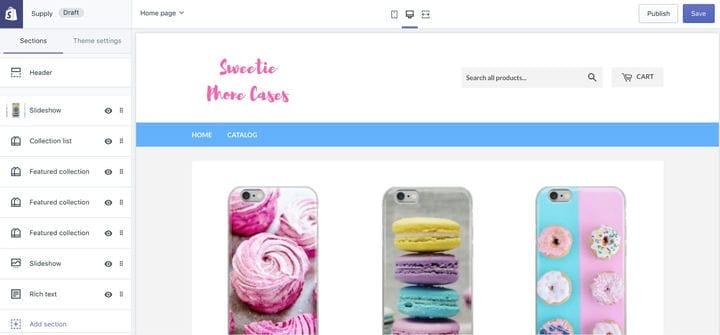 Как настроить магазин чехлов для телефона Shopify