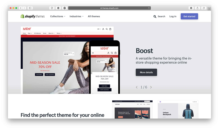 Shopify Магазин тем