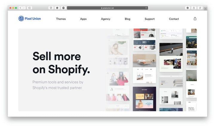 Pixel Union Shopify шаблоны