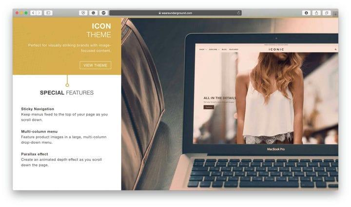 Иконка Shopify Тема