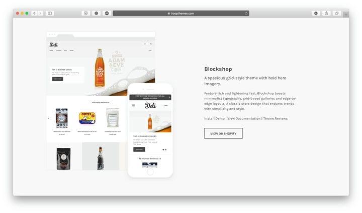 Blockshop Shopify Тема