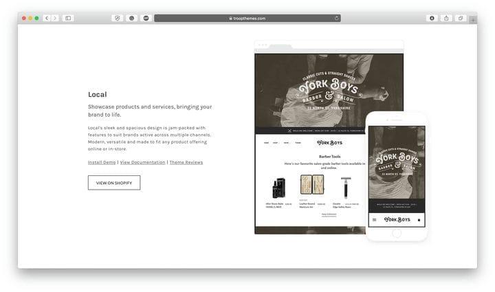 Местная тема Shopify