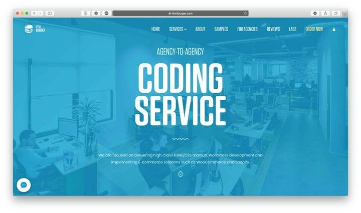 Кодирование тем HTML Burger