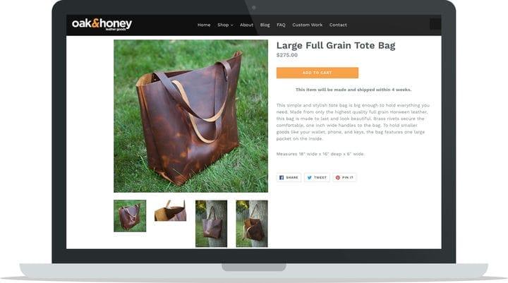 Большая сумка для кожаных изделий из дуба и меда