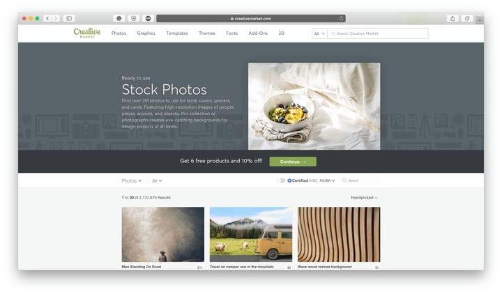 Обзор ресурсов Creative Market Design