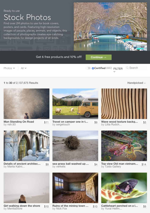 Фондовые фотографии Creative Market