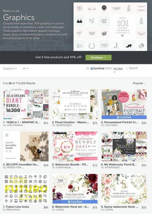 Графика Creative Market
