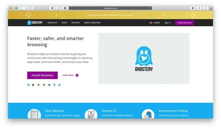 Инструменты веб-безопасности Ghostery