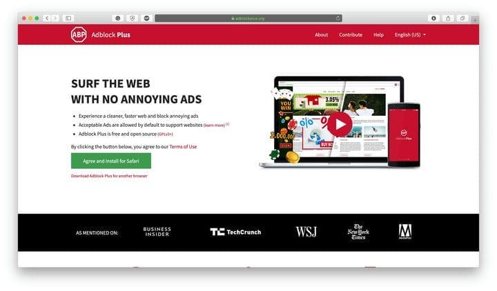 AdBlock Plus Web Security