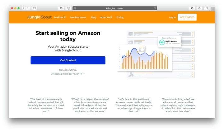 Популярные продукты JungleScout для продажи в Интернете