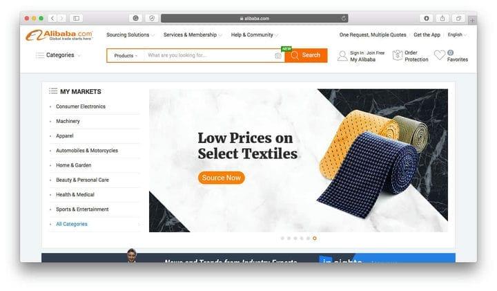 Актуальные продукты для продажи в Интернете на Alibaba