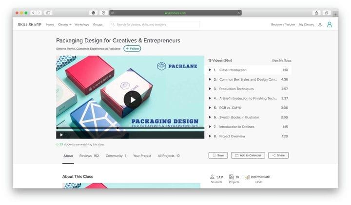 Лучшие классы Skillshare Design для предпринимателей