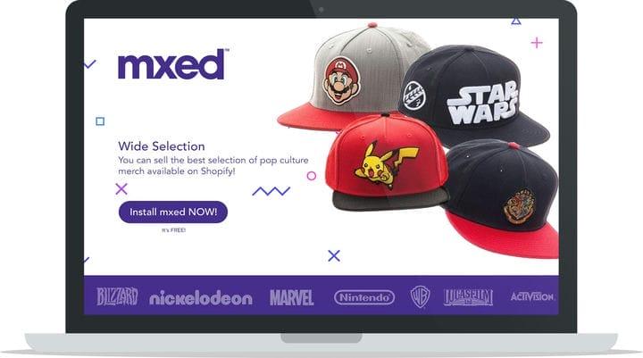MXED Shopify App Выбор товаров поп-культуры