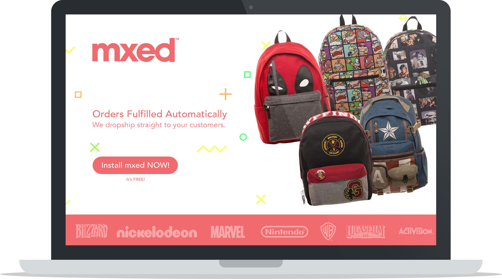 Дропшиппинг приложения MXED Shopify