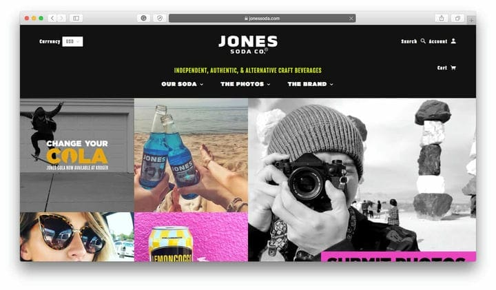 Магазин Jones Soda Top Shopify