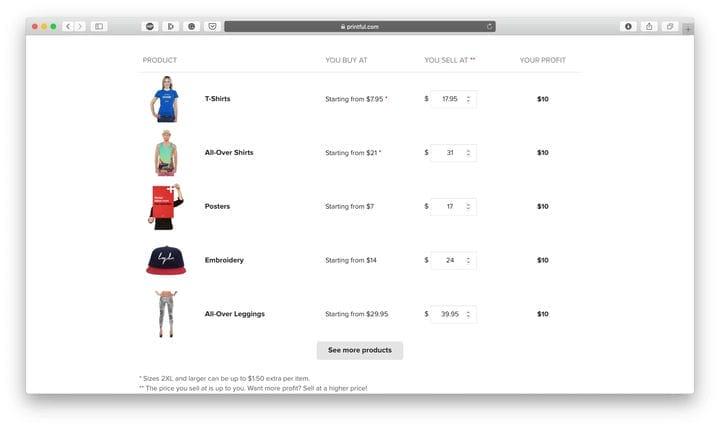 Printful Review: продавайте высококачественные товары с прямой доставкой