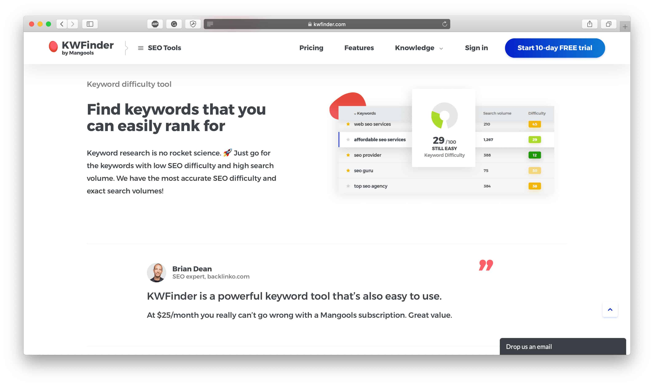 Обзор KWFinder: улучшите свой SEO с помощью исследования ключевых слов на основе данных