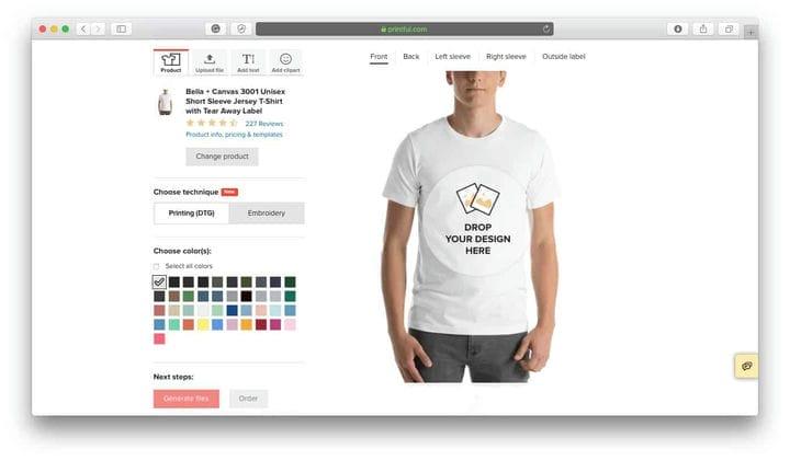 Генератор мокапов футболок с принтом