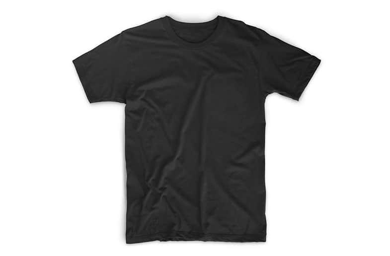 Шаблон футболки Flatlay