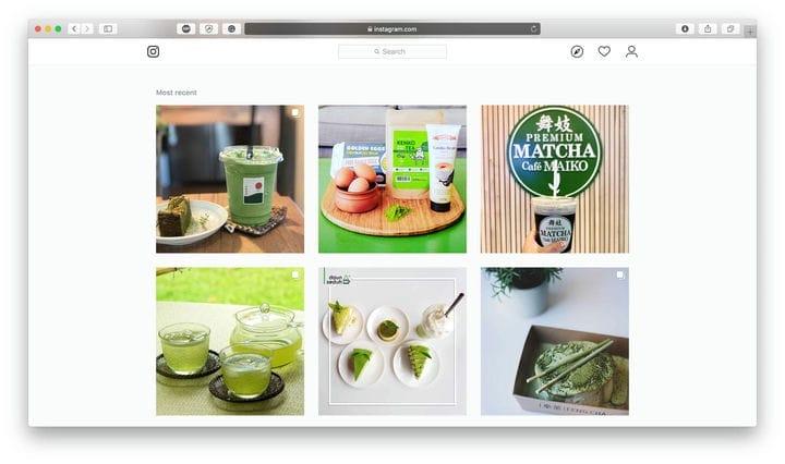 Matcha Tea Instagram