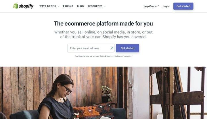 Shopify Домашняя страница