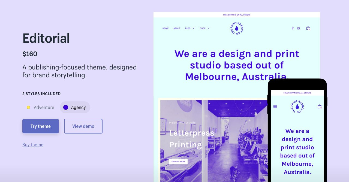 Редакционное агентство Shopify Themes
