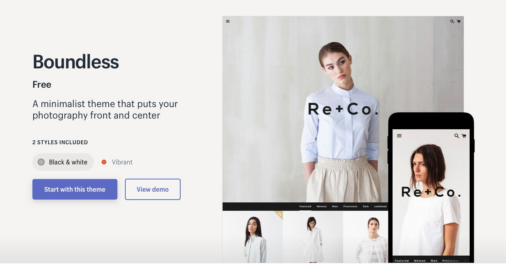 Безграничные темы Shopify