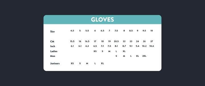 Таблица размеров перчаток азиатских размеров и размеров США