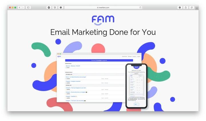 Обзор FAM: умный электронный маркетинг для занятых предпринимателей