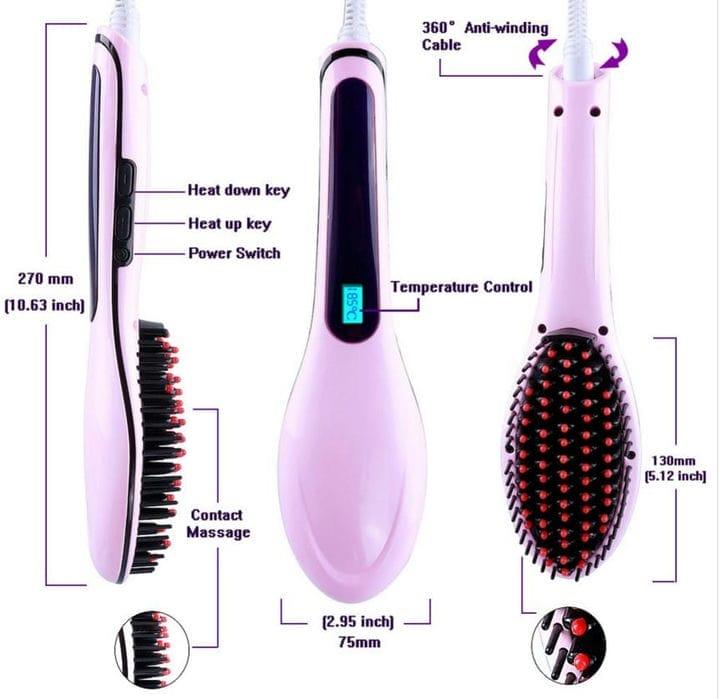 Электрическая щетка для выпрямления волос: цены и отзывы 2020