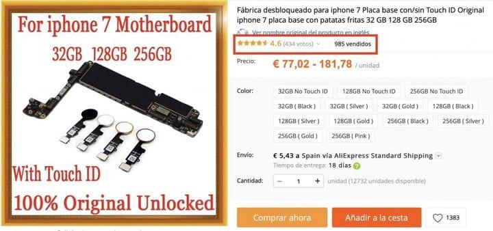 Оригинальные и недорогие материнские платы для iPhone на AliExpress