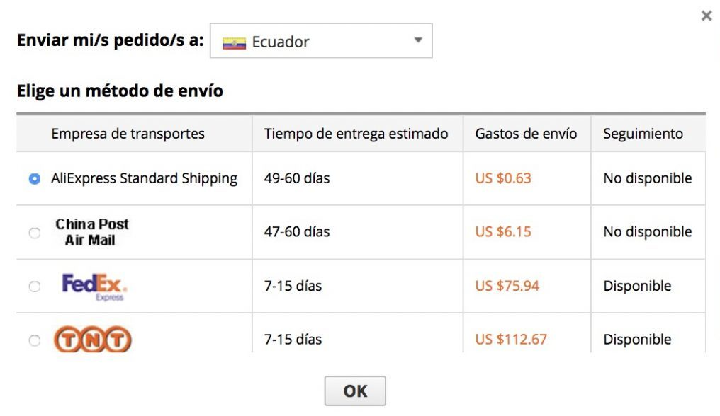 Как покупать на AliExpress Эквадор - Подробное руководство 2020