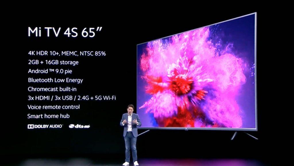 """Xiaomi Mi TV 4S 65 """"прибывает в Испанию: 4K-телевизор / невероятная цена"""
