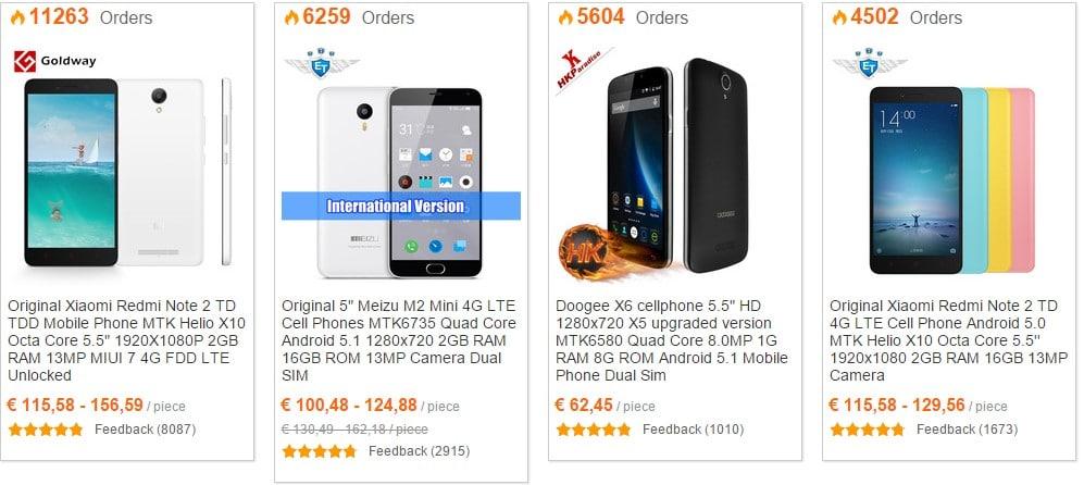 Лучшие дешевые китайские телефоны на AliExpress - список декабрь 2017