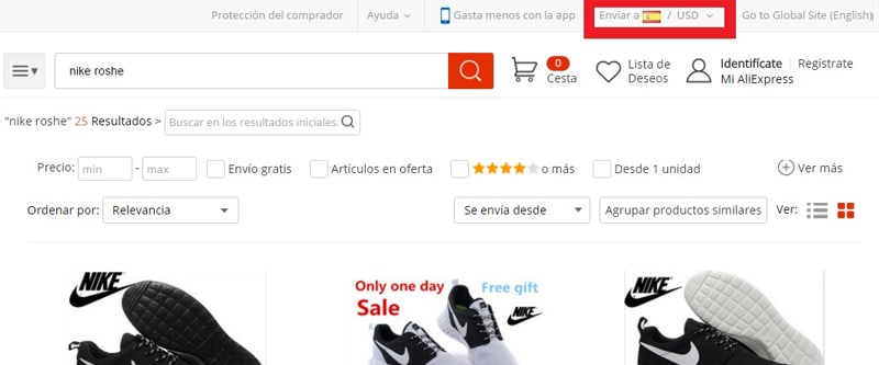 Как разместить AliExpress на испанском языке и в евро - декабрь 2020 г.