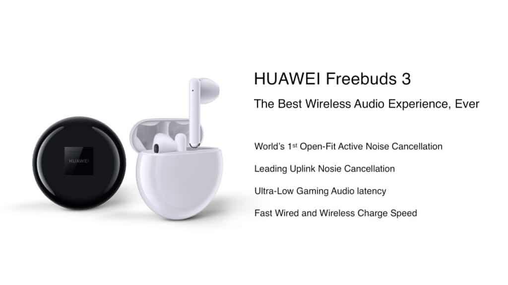Huawei представляет беспроводные наушники FreeBuds 3