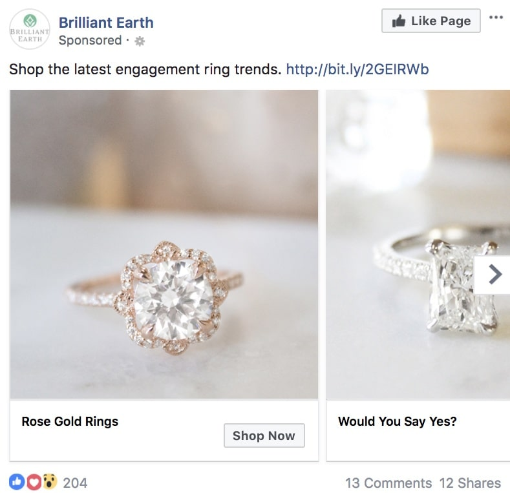 20 примеров рекламы в Facebook для вдохновения