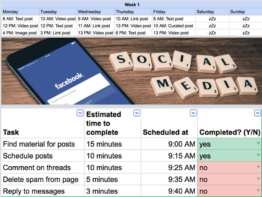 Бесплатный шаблон маркетинговой стратегии Facebook | План маркетинговой стратегии FB