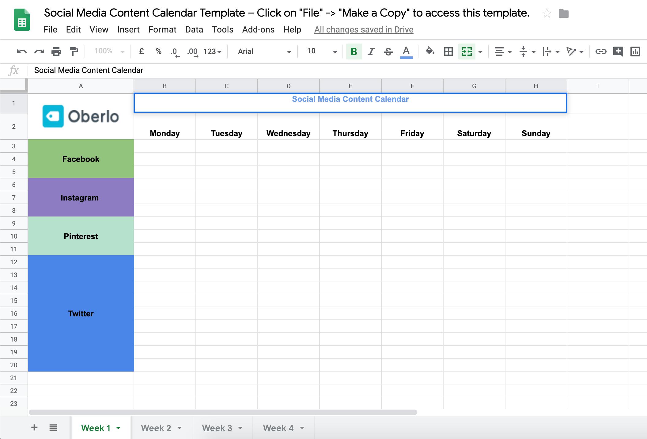 Как создать календарь контента в социальных сетях для вашего бренда (БЕСПЛАТНЫЙ ШАБЛОН)