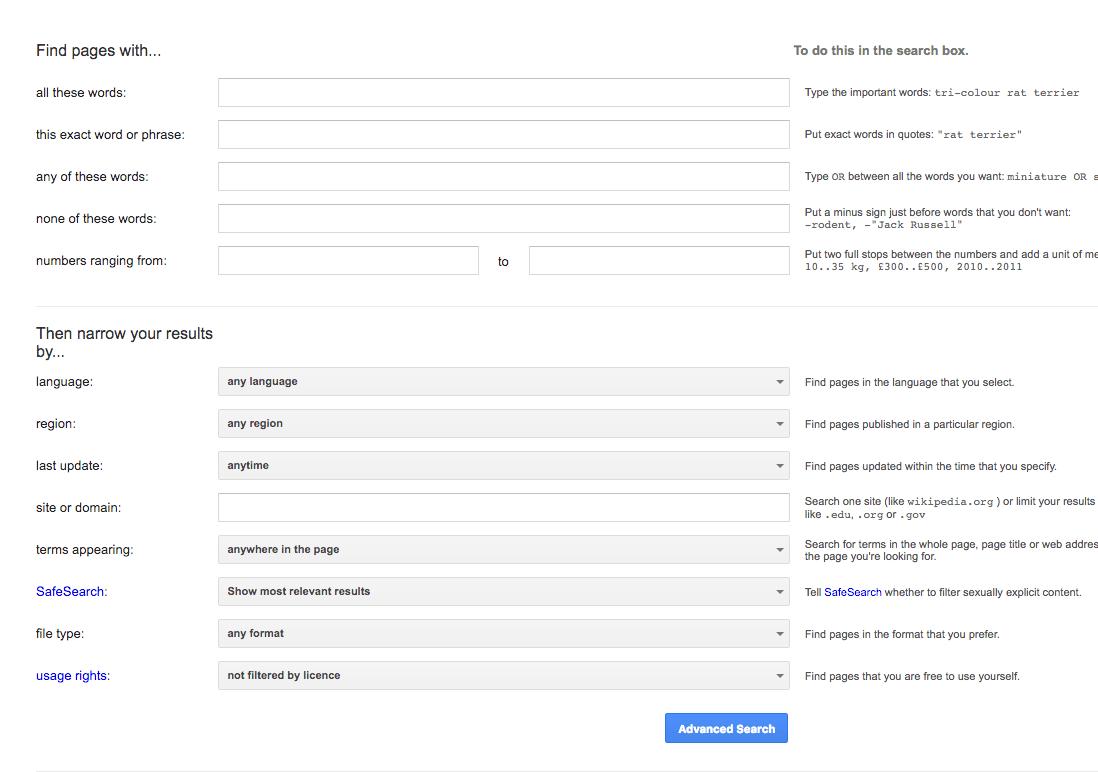 Расширенный поиск Google: советы и операторы для улучшения поиска