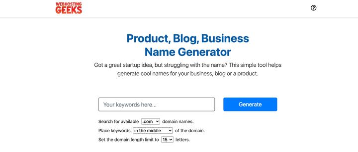 25 бесплатных генераторов торговых марок для поиска лучших названий компаний