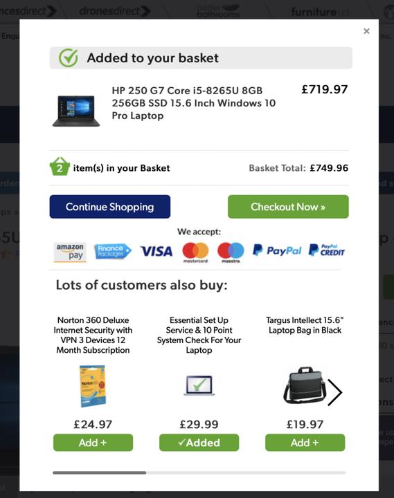 Перекрестные продажи для электронной торговли: примеры и передовой опыт